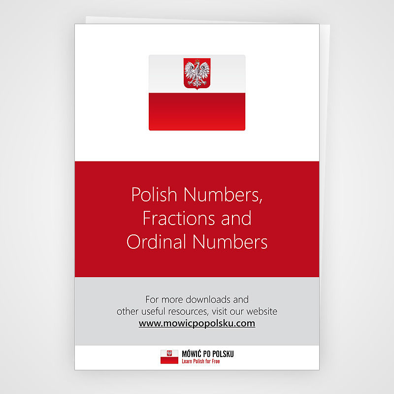 Polish Numbers, Fractions and  Ordinal Numbers